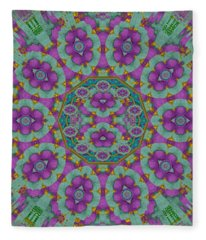Florals Of Paradise Fleece Blanket