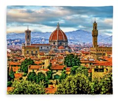 Florence 2 Fleece Blanket
