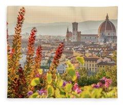 Florence In Summer Fleece Blanket