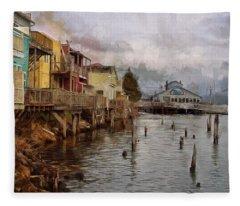 Scene On The Siuslaw  Fleece Blanket