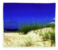 Florida Daytona Beach Sand Dunes Fleece Blanket