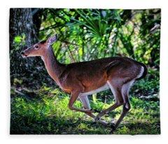 Florida Deer Fleece Blanket