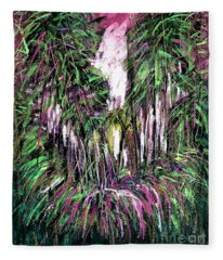 Florida In Pink And Green  Fleece Blanket