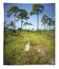 Florida Pine Flatwoods Fleece Blanket