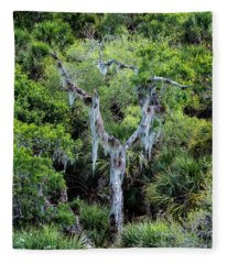 Florida Spanish Moss Fleece Blanket