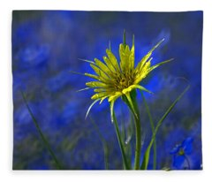 Flower And Flax Fleece Blanket