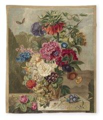 Flower Arrangement, Anthonie Van Den Bos, 1778 - 1838 B Fleece Blanket