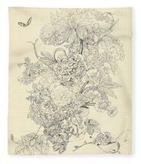 Flower Arrangement, Anthonie Van Den Bos, 1778 - 1838 C Fleece Blanket