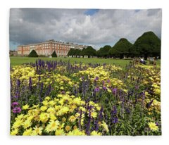 Flower Bed Hampton Court Palace Fleece Blanket