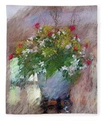 Flower Bowl Fleece Blanket