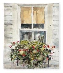 Flower Box Fleece Blanket
