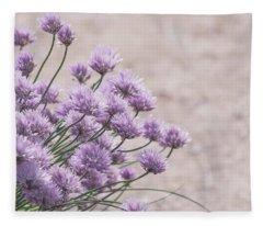 Flower Chives Fleece Blanket