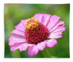 Flower Close-up Fleece Blanket