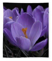 Flower Crocus Fleece Blanket