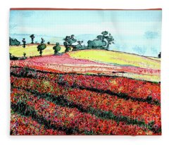 Flower Fields Fleece Blanket