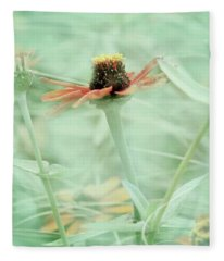 Flower In The Morning Fleece Blanket