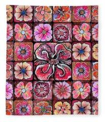 Flower Montage Fleece Blanket