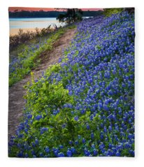 Flower Mound Fleece Blanket
