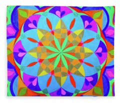 Flower Of Life Mandala Fleece Blanket
