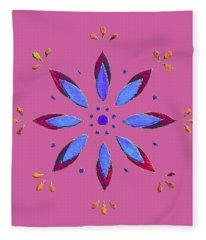 Flower On Pink Fleece Blanket