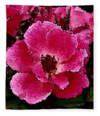Flower Painting Collection 19 Fleece Blanket