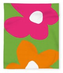 Flower Power 1- Art By Linda Woods Fleece Blanket