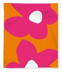 Flower Power 2- Art By Linda Woods Fleece Blanket