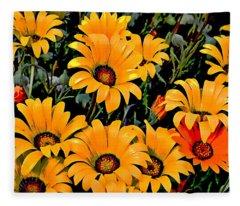 Flower Power 2 Fleece Blanket