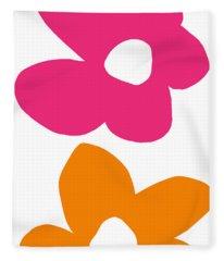 Flower Power 4- Art By Linda Woods Fleece Blanket