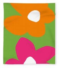 Flower Power 5- Art By Linda Woods Fleece Blanket
