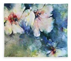 Flower Series   Uploaded For Kaye Fleece Blanket