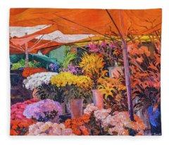 Flower Stand Fleece Blanket
