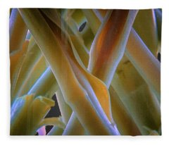 Flower Stems Fleece Blanket