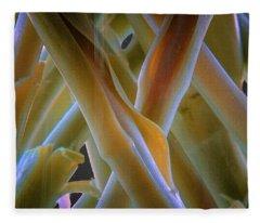 Flower Stems Fleece Blanket