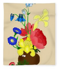 Floral Still Life 1674 Fleece Blanket