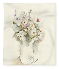 Flower Study Twelve Fleece Blanket
