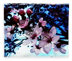 Flowering Of The Plum Tree 7 Fleece Blanket