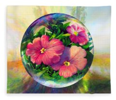 Flowering Panopticon Fleece Blanket