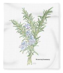 Flowering Rosemary Fleece Blanket