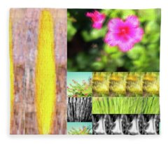 Flowers And Plants Impressionistic Fleece Blanket