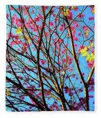 Flowers And Trees Fleece Blanket