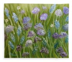 Flowers Field Fleece Blanket