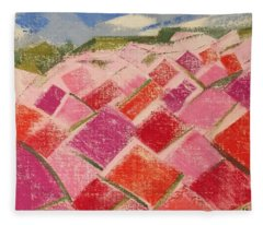 Flowers Fields Fleece Blanket