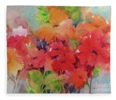 Flowers For Peggy Fleece Blanket