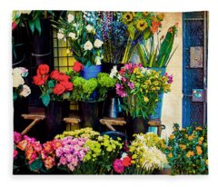 Flowers For Sale Fleece Blanket