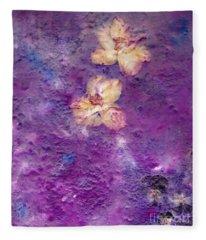 Flowers From The Garden Fleece Blanket