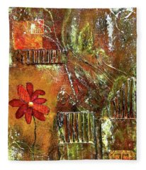 Flowers Grow Anywhere Fleece Blanket
