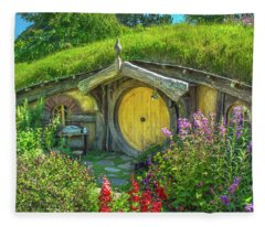 Flowers In The Shire Fleece Blanket