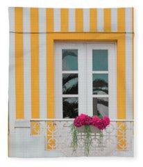 Flowers In The Window Fleece Blanket