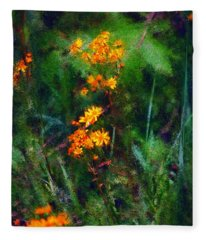Flowers In The Woods At The Haciendia Fleece Blanket